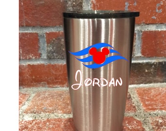 Custom Disney Cruise Line Inspired Ozark Trail 20 oz Tumblers - Great for Fish Extender Gifts!