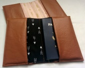 Tan Faux Leather Passport Cover, Handmade Personal Passport Holder