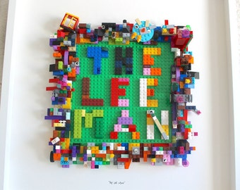 The Lee Man - Custom Lego Art for 5 year old's Birthday present