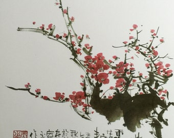 Plum Flower, Chinese Ink Painting, Print