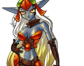 Maia Acheron - Jak and Daxter - Pepakura Files