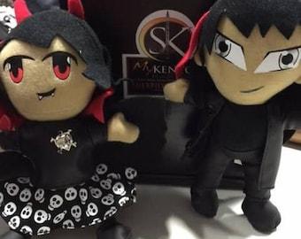Acheron & Simi plushie dolls + DH Comic