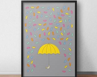 Jelly Bean Rain Archival Print