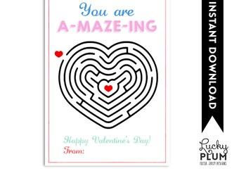 Pencil Friend Valentine Printable / Write Valentine Printable Card / A-Maze-Ing Valentine Printable / Pencil Valentine Printable Tag