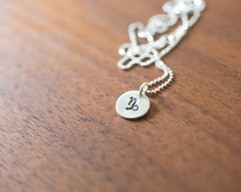 Capricorn Necklace Zodiac Necklace - December Birthday Gift Sterling Silver Capricorn Pendant Capricorn Simple Capricorn  Zodiac Jewelry
