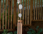 Wind Chimes Driftwood Beach Stone With Large Copper Chimes windchime wind chime