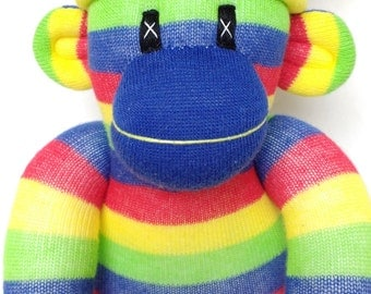 Primary Stripe Sock Monkey