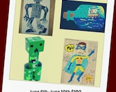 Boys Art Summer Camp, Ages 6-10