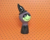 Spooky Witch Girl Figurine - Collectible Miniature Resin Figure