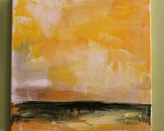 Square Landscape Painting, Abstract, Minimalist, Modern, Art, Home, Office Decor, Gift, Winjimir, Wall Art, Office Art,
