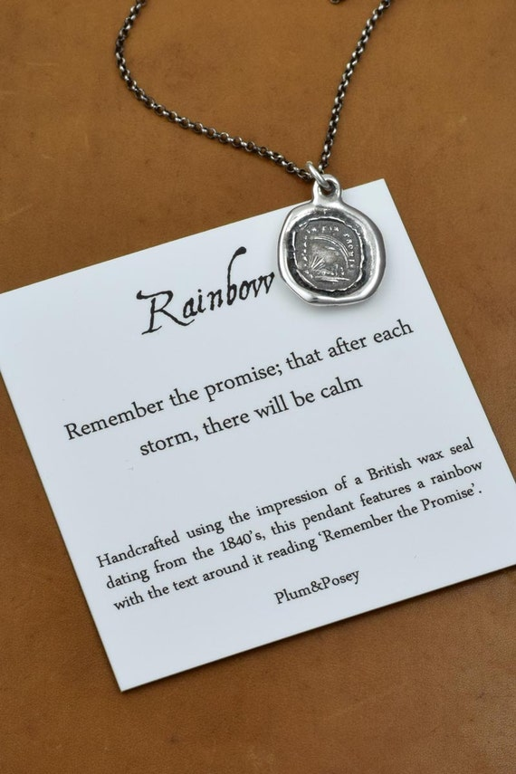 Remember the Promise - Rainbow Wax Seal Necklace - 153