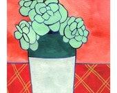 Sedums Print // Modern Decor // Cactus Art // Plant Paintings // Plant Print // Modern Print // Rachel Austin Art 11 x 14