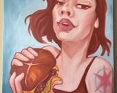 Print - I Freaking Love Cheeseburgers - 12x16