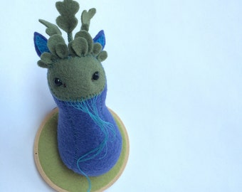Blueberry Garden - soft sculpture studio monster