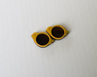 No laser fine finished bezel trays  - Yellowheart and Walnut - 20 mm - (X14- YW) - Set of 2