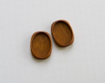 Cab mountings top quality finishing hardwood - Mahogany - 22 x 30 mm cavity - (A822-M) - Set of 2