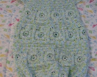 Crochet Pattern - Granny Squares Sweet Pea Pattern - Baby Cocoon Pattern - Baby Sleep Bag or Sac Pattern - Pajama Pattern - Digital Download