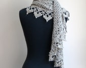 Crochet Lace Shawl Scarf Wrap Cowl, Stylish Comfort Prayer Meditation, Women's Fashion, Ultra-luxe Alpaca Silk, FREE SHIPPING, Ready to Ship