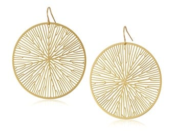 Peltate Earrings (gold)
