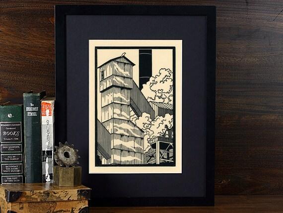 My Kingdom of Solitude - Letterpress Linocut 6x9