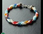 spiral chain bracelet in rainbow colours