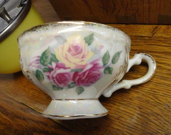 Lusterware Tea Cup Mother of Pearl Look