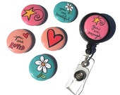 You are LOVED, beautiful, enough ID badge reel or lanyard - inspirational sayings, interchangeable alligator, belt clip, badge holder, quote