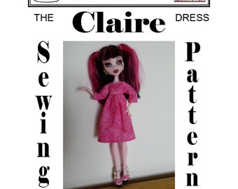 "MONSTER HIGH Sewing Pattern ""Claire"" Dress PDF Download by Dolly Delicacies"