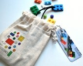 Play Day Necklace in Blue: Build Your Own LEGO Necklace