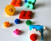 Play Day Ring in Turquoise Blue: Build Your Own LEGO Ring