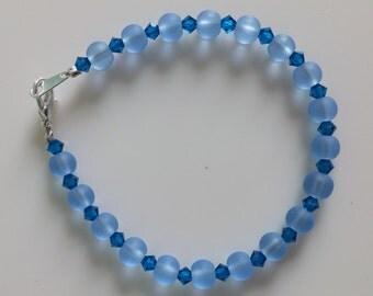 Glass Bead Bracelet - Blueberries