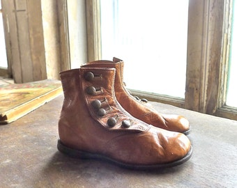 Edwardian Child's Button Boots Approx. 4 to 5 Year Old