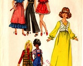 """1971 Barbie DOLL CLOTHES PATTERN Simplicity #9697 Dollikin Maddie Mod Julia 11 1/2"""" Wardrobe Vintage Sewing Gray Mountain Goods"""