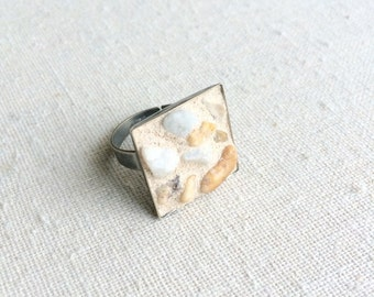 Riverbed Mosaic Ring