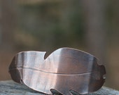 Forest Floor Feather Cuff, Copper, Sterling Silver