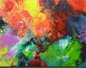 Giclee print on stretched canvas, from my original abstract contemporary acrylic painting, large wall art ORIGIN, 30x40