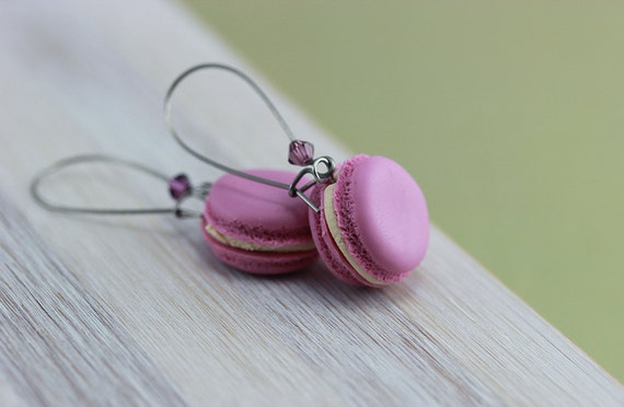 Lavender Macaron Earrings