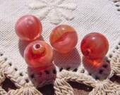 Mango Givre Swirls Vintage Glass Beads