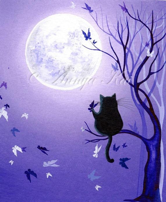 Cat Art Print, Cat Poster, Cat Wall Decor, Cat Wall Art, Cat