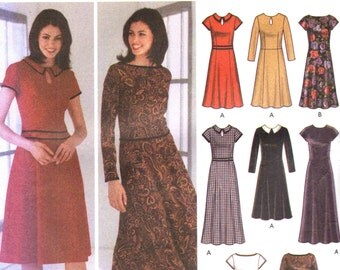 Simplicity 5795 EIGHT Dresses Design Your Own Sizes 14 - 22 English & Spanish Espanol Instructions ©2002