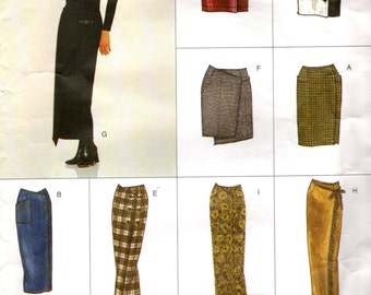Vogue 2029 WRAP SKIRTS 8 VARIATIONS ©2001 Vogue Easy Options Sizes 12, 14, 16