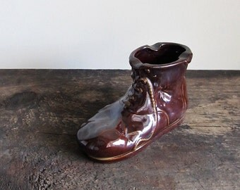 Vintage Ceramic Boot Ashtray By Ross Products