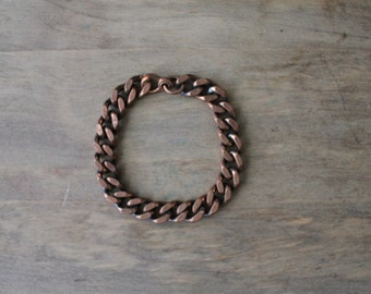 copper chain bracelet | vintage copper bracelet
