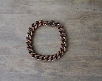 copper chain bracelet | vintage copper bracelet