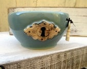 Lock and Key Steampunk Robins Egg Bowl