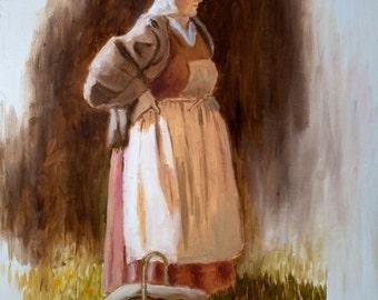 Original Oil Painting - Pioneer Portrait