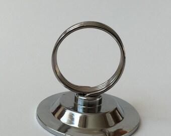 Wedding Table Number Holder, Sign Holder, Metal Card Holder, Place Card Holder, Name Card Stand, Silver Number Stand, Metal Card Holder