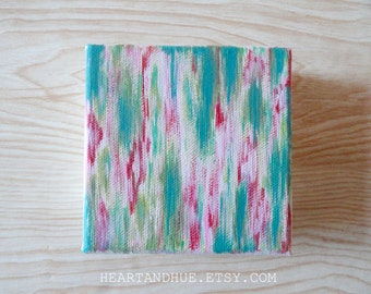 4x4 PINK RED GREEN abstract canvas