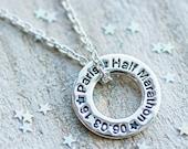 Marathon Runners Necklace - Running jewellery, Personalised Runners Jewellery, Gift for runner, Half Marathon, 13.1, 26.2,