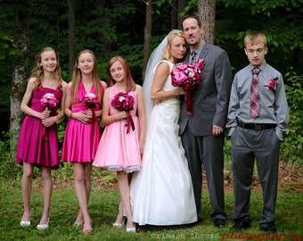 """Flower Girl infinity   Jr Bridesmaids     """"Grows With Me"""" design makes it wearable for years  custom made to measurements FREE BANDEAU"""